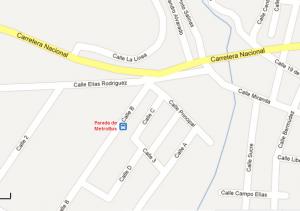Vista de la ubicación exacta de la parada de Las Tejerías (Imagen Google Maps)