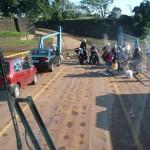 Foto tomada en la barcaza sobre el río Uruguay pasando de Porto Mauá-Bra hacia Alba Posse-Arg