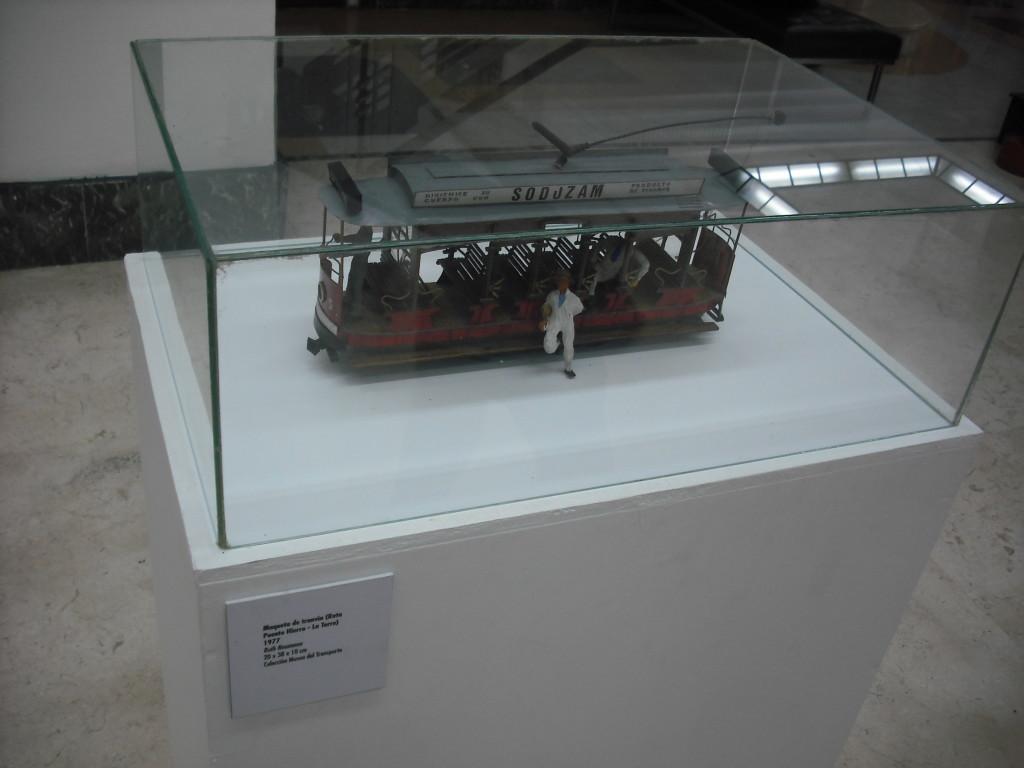 Maqueta de tranvía electrico
